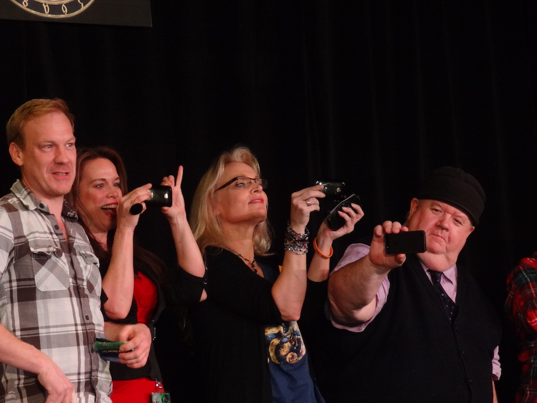 At Gally 2013 - Shaun Dingwall, Chase Masterson, Me and Ian McNeice Smile!