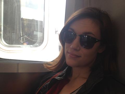 Paton on train 2014