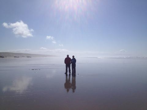 Mark & Jen Reflecting
